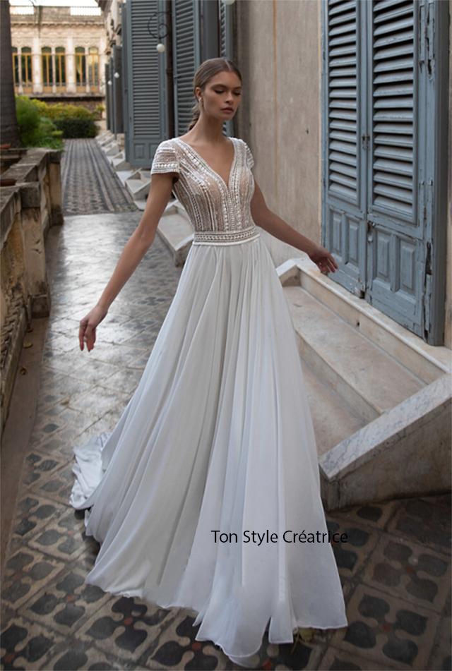 Robe de mariée bohème fluide pas cher Gard