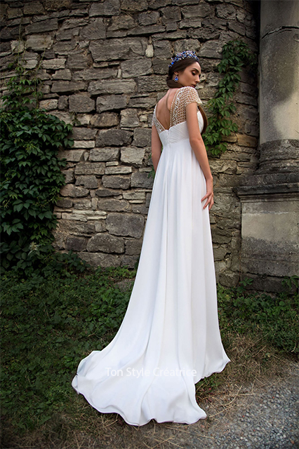 Robe de mariée empire bohème