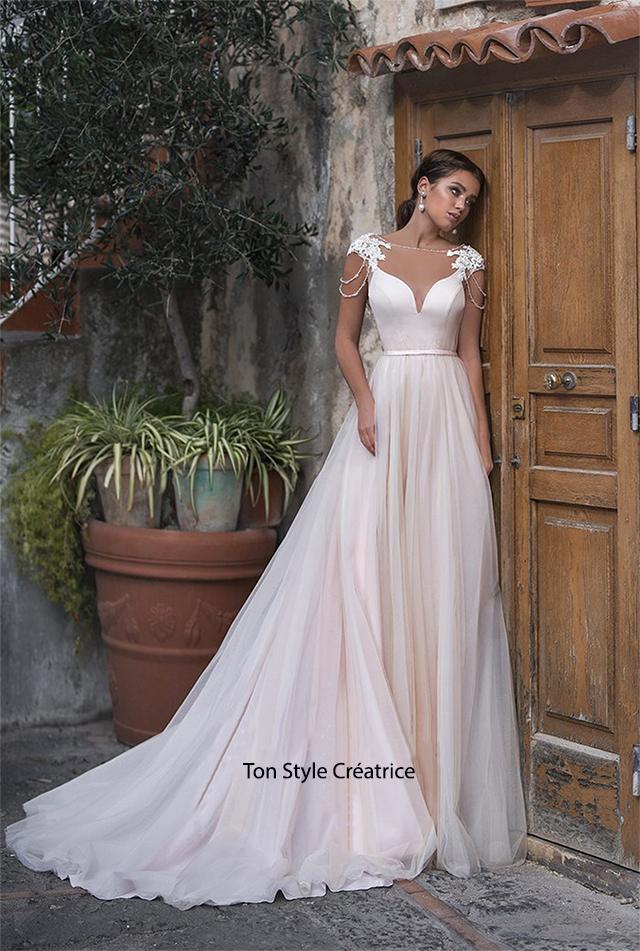 Robe de mariée évasée pas cher