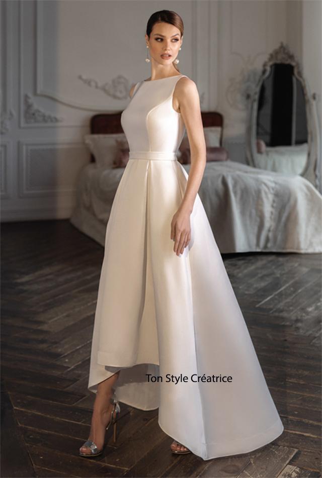 Robe de mariée asymétrique pas cher
